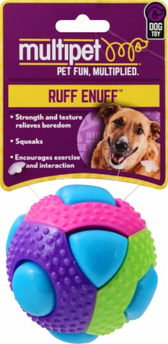 Multipet Ball Dog Toy Assorted Perspective: front