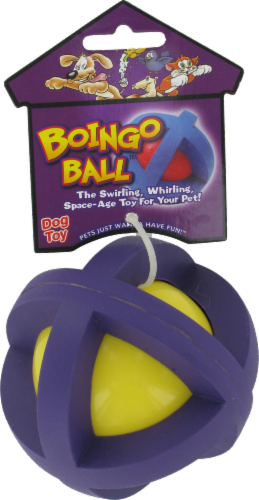 Multipet Medium 3.5-Inch Boingo Ball Perspective: front