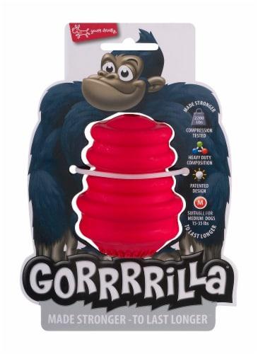 Multipet Red Medium Gorrrrilla Dog Toy Perspective: front