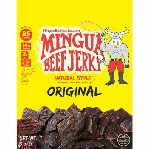 Mingua Natural Style Original Beef Jerky Perspective: front