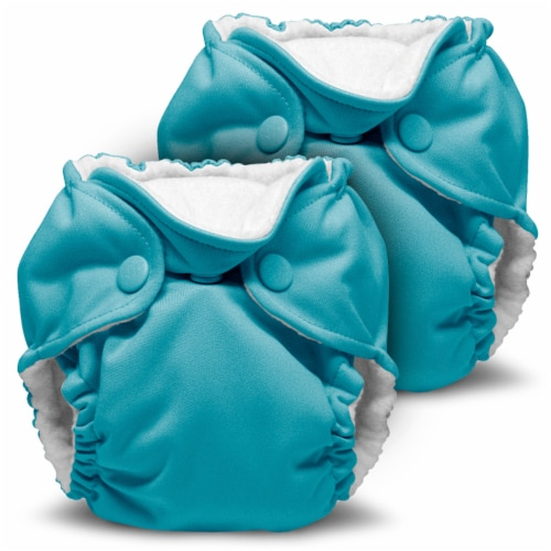 Kanga Care Lil Joey Newborn All in One AIO Cloth Diaper (2pk) Aquarius 4-12lbs Perspective: front