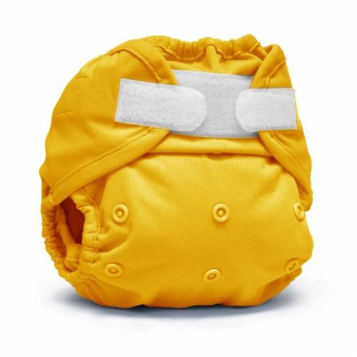 Kanga Care Rumparooz One Size Reusable Cloth Diaper Cover Aplix Dandelion 6-35 lbs Perspective: front
