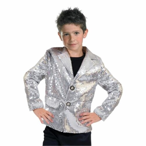 Costumes For All Occasions FF782717 Disco Jacket Silver Child Smal Perspective: front