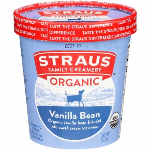 Straus Family Organic Vanilla Bean Ice Cream Perspective: front