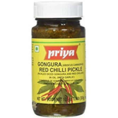 Priya Gongura Red Chilli Pickle With Garlic - 300 Gm Perspective: front