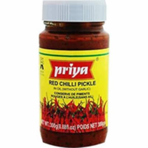 Priya Red Chilli Pickle No Garlic - 300 Gm Perspective: front