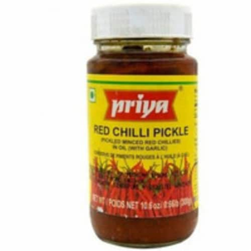 Priya Red Chilli Pickle With Garlic - 300 Gm Perspective: front