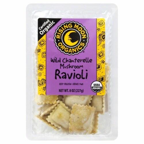 Rising Moon Organics Wild Chanterelle Mushroom Ravioli Perspective: front