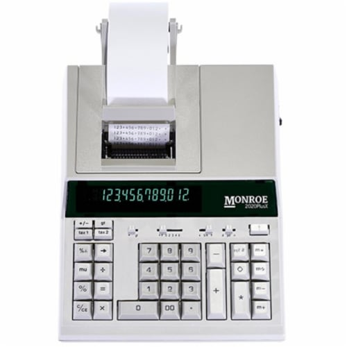 Monroe 2020PlusX Medium-Duty Printing Calculator for Accounting and Purchasing Pros Perspective: front