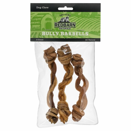 Redbarn Naturals Bully Barbells Dog Chews Perspective: front