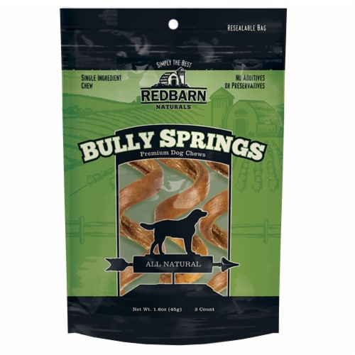 Red Barn Bully Springs Premium Dog Chews Perspective: front