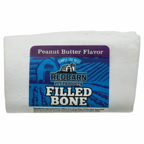 Red Barn Peanut Butter Flavor Filled Bone Perspective: front