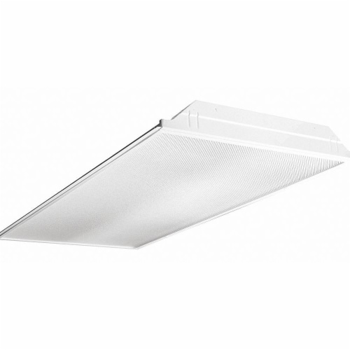 Hubbell Lighting - Columbia Recessed Troffer,4 ft L,4334 lm,34W Perspective: front
