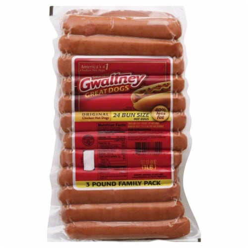 Gwaltney Great Dogs Chicken Franks Perspective: front