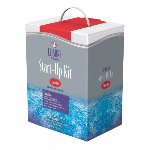 Leisure Time Chlorine Chemical Full Starter Spa Sanitizer and Maintenance Kit Perspective: front