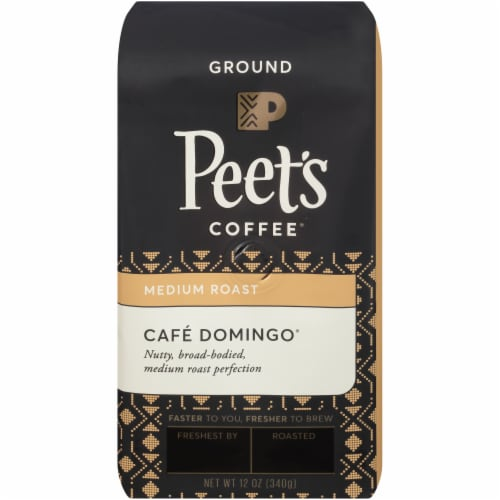 Peet's Coffee Cafe Domingo Medium Roast Ground Coffee Perspective: front