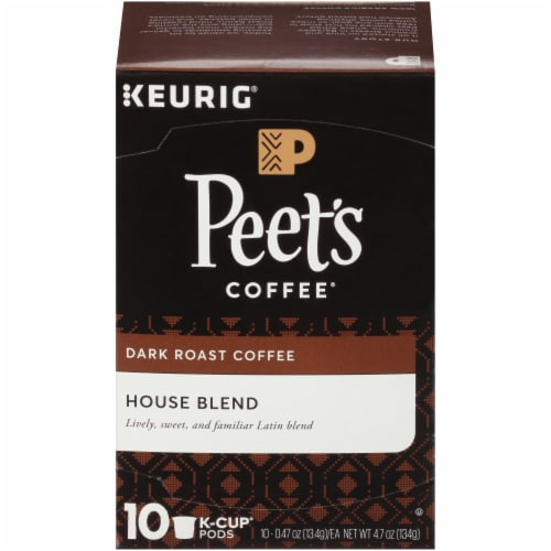 Peet's Coffee House Blend Dark Roast Coffee K-Cup Pods Perspective: front