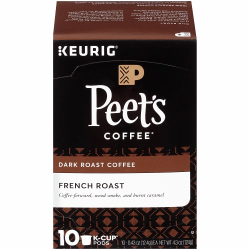 Peet's Coffee French Roast Dark Roast Coffee K-Cup Pods Perspective: front