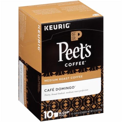 Peet's Coffee Cafe Domingo Medium Roast Coffee K-Cup Pods Perspective: front