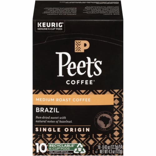 Peet's Coffee Brazil Medium Roast Coffee K-Cup Pods Perspective: front