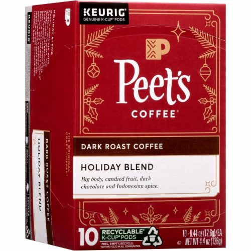 Peet's Coffee Holiday Blend Dark Roast Coffee K-Cup Pods Perspective: front