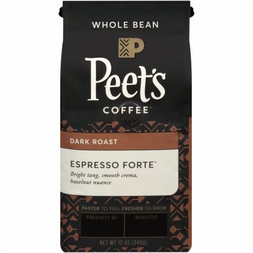 Peet's Coffee Espresso Forte Dark Roast Whole Bean Coffee Perspective: front