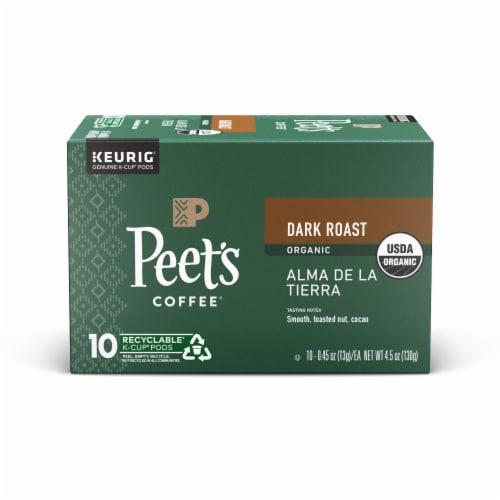 Peet's Coffee Organic Alma De La Tierra Dark Roast Coffee K-Cup Pods Perspective: front