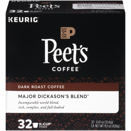 Peet's Coffee Major Dickason's Blend Dark Roast Coffee K-Cup Pods Perspective: front