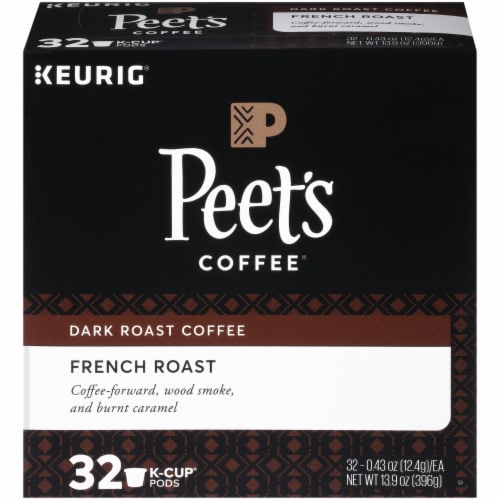 Peet's Coffee French Dark Roast Coffee K-Cup Pods 32 Count Perspective: front