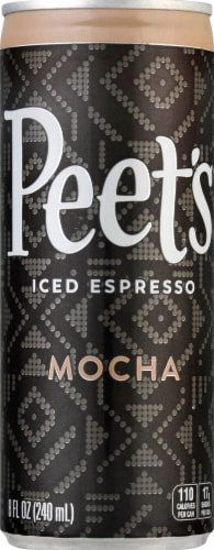Peet's Coffee Mocha Iced Espresso Coffee Drink Perspective: front