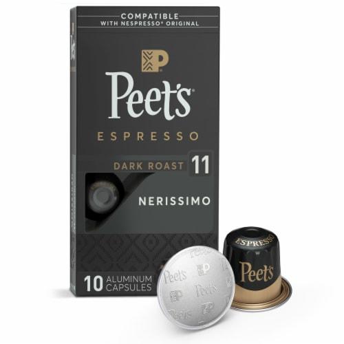 Peet's Coffee Nerissimo Arabica Espresso Coffee Aluminum Capsules Perspective: front