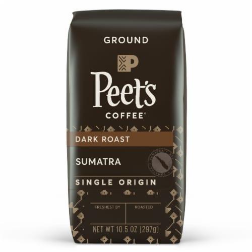 Peet's Coffee Single Origin Sumatra Dark Roast Ground Coffee Perspective: front