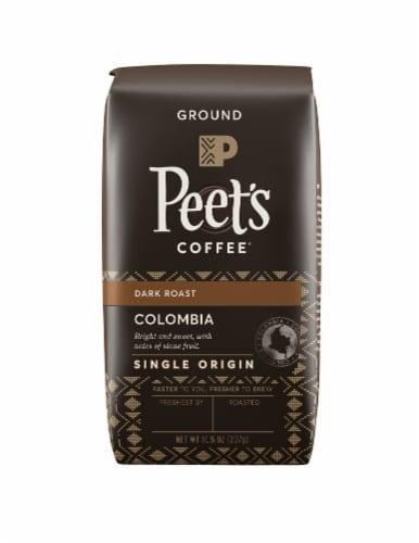 Peet's Coffee Single Origin Colombia Dark Roast Ground Coffee Perspective: front