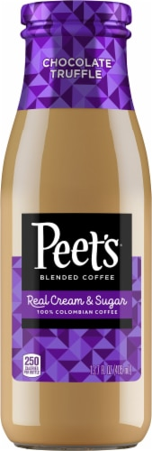 Peet's Coffee Chocolate Truffle Real Cream & Sugar Colombian Coffee Perspective: front