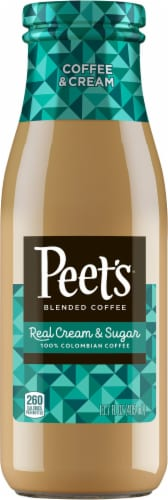 Peet's Coffee Coffee & Cream Real Cream & Sugar Colombian Coffee Perspective: front