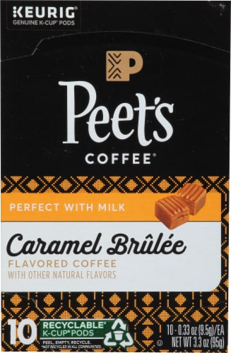 Peet's Coffee Caramel Brulee Flavored K Cup Pods Perspective: front