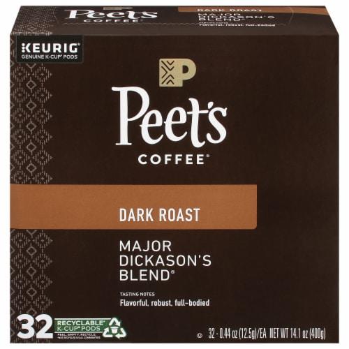 Peet's Coffee Major Dickason's Blend Dark Roast K-Cup Pods Perspective: front
