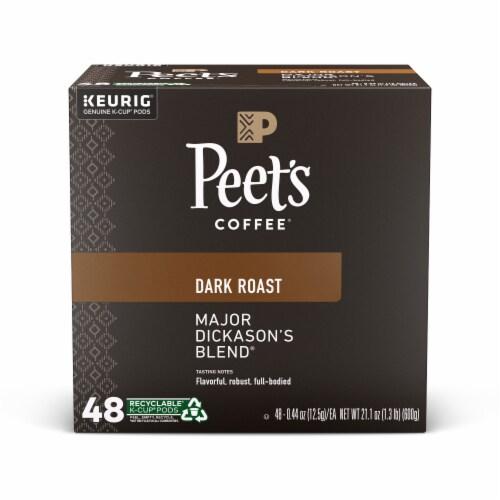 Peet's® Coffee Major Dickason's Dark Roast Coffee K-Cup Pods Perspective: front