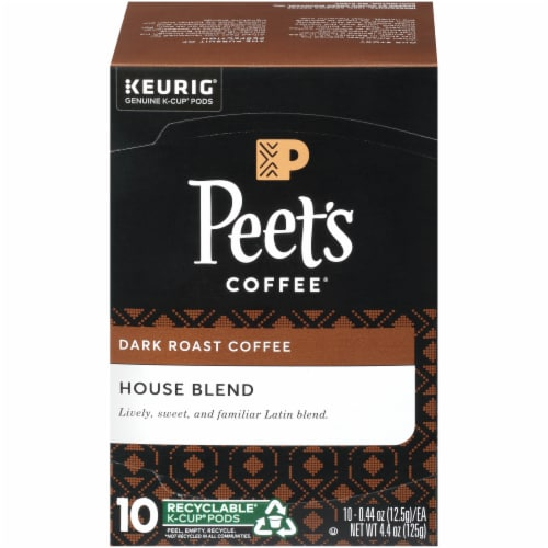 Peet's Coffee House Blend Dark Roast K-Cup Pods Perspective: front