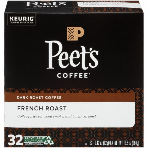 Peet's Coffee French Roast Dark Roast K-Cup Pods Perspective: front