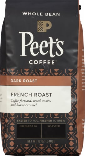 Peet's Coffee French Roast Whole Bean Coffee Perspective: front