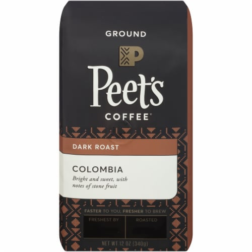 Peet's Coffee Colombia Dark Roast Ground Coffee Perspective: front