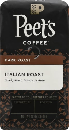 Peet's Coffee Italian Roast Dark Roast Ground Coffee Perspective: front