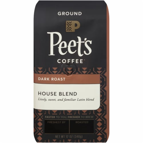 Peet's Coffee House Blend Dark Roast Ground Coffee Perspective: front
