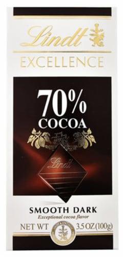 Lindt Dark Chocolate Bars, 3.5 oz, 70%, 2-pk Perspective: front