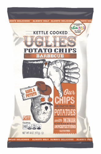 UGLIES Barbecue Kettle Cooked Potato Chips Perspective: front