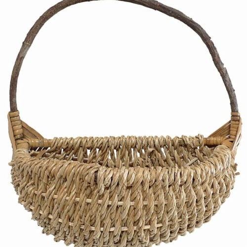 Cheungs CR-25054S-NL Rope Wall Basket with Crazy Vine Handle Perspective: front