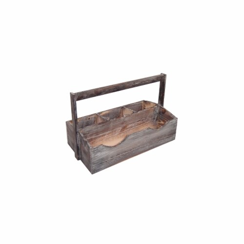Cheung's FP-3686 Wooden Garden Utensil Holder Perspective: front
