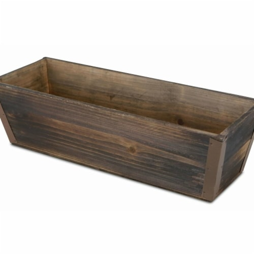 Cheungs FP-3504-14 14 in. Wooden Ledge Planter Perspective: front