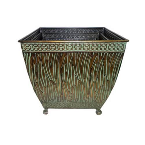 CheungsRattan 4770-3 Metal Planter, Set of 3 Perspective: front